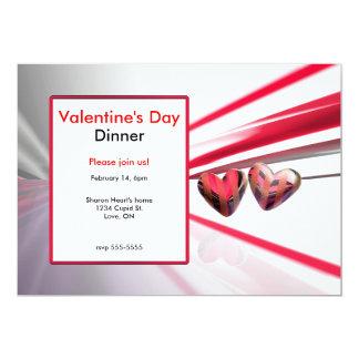 Cena salvaje del el día de San Valentín de los Invitación 12,7 X 17,8 Cm