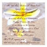 Cena tropical del ensayo del boda de playa del Plu Invitación Personalizada