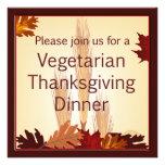 Cena vegetariana del diseño de la cosecha de la ac invitacion personalizada