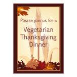 Cena vegetariana del diseño del otoño de la acción
