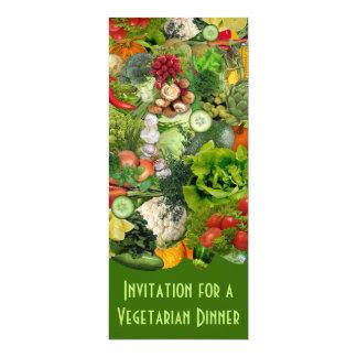 """Cena vegetariana invitación 4"""" x 9.25"""""""