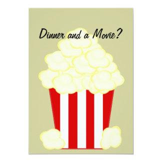 Cena y una invitación untada con mantequilla invitación 12,7 x 17,8 cm