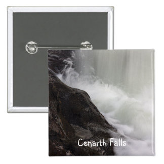 Cenarth Falls 2 Inch Square Button