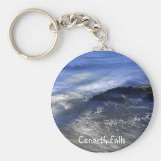 Cenarth Falls Basic Round Button Keychain
