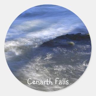 Cenarth Falls Classic Round Sticker