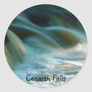 Cenarth Falls Classic Round Sticker