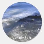 Cenarth Falls Round Sticker