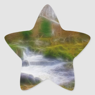 Cenarth Falls Star Sticker