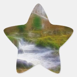 Cenarth Falls Star Sticker