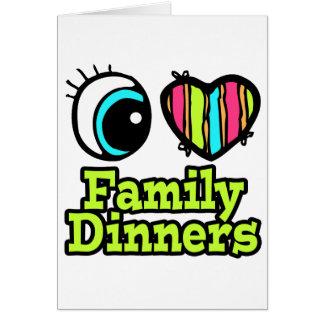 Cenas brillantes de la familia del amor del tarjeta de felicitación
