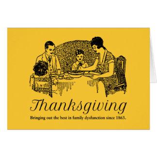 Cenas divertidas de la familia de la acción de tarjeta de felicitación