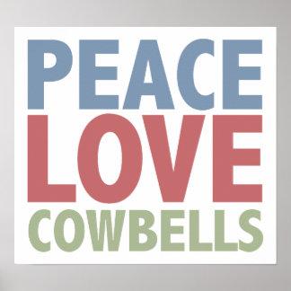 Cencerros del amor de la paz póster