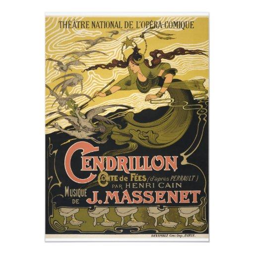 "Cendrillon de Jules Massenet del poster de Emilio Invitación 5"" X 7"""