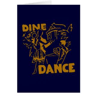 Cene y baile tarjeta de felicitación
