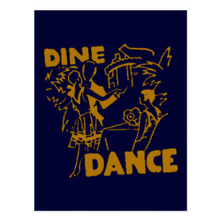 Cene y baile tarjeta postal