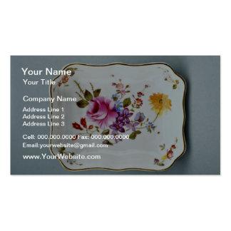 Cenicero del siglo XX, Derby, flores de Inglaterra Tarjeta De Visita