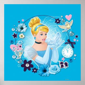 Cenicienta - graciosa como princesa verdadera póster