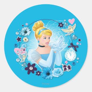 Cenicienta - graciosa como princesa verdadera pegatina redonda