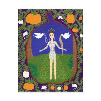 Cenicienta (moda del cuento de hadas #2) lona estirada galerías