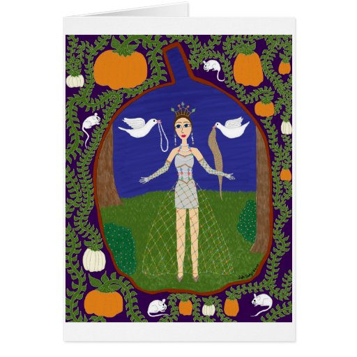 Cenicienta (moda del cuento de hadas #2) tarjeta