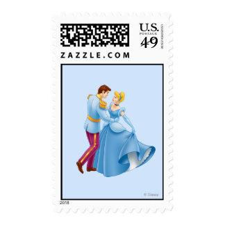 Cenicienta y príncipe el encantar sello postal