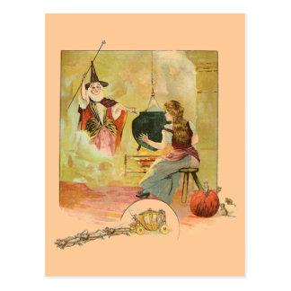 Cenicienta y su madre de hadas de dios tarjeta postal