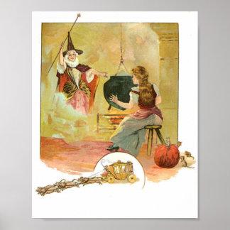 Cenicienta y su poster de la hada madrina