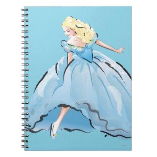 Cenicienta y su zapato de cristal spiral notebooks
