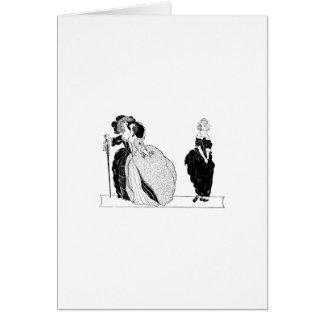 Cenicienta y sus hermanastras presumidas tarjeta de felicitación