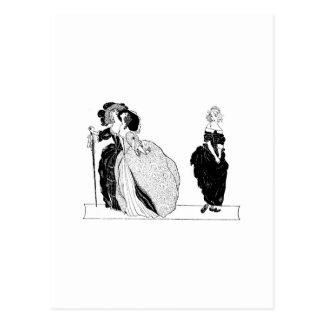 Cenicienta y sus hermanastras presumidas tarjetas postales