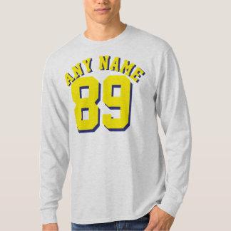 Ceniza y diseño amarillo del jersey de los