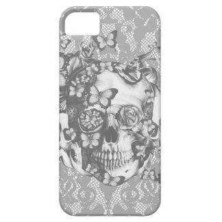 Cenizas al cráneo floral del cordón de las cenizas iPhone 5 carcasas