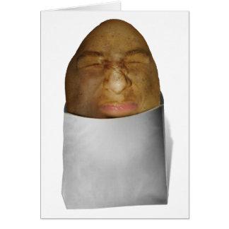 Ceño fruncido de la patata tarjeta de felicitación