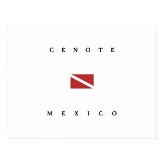 Cenote Mexico Scuba Dive Flag Postcard
