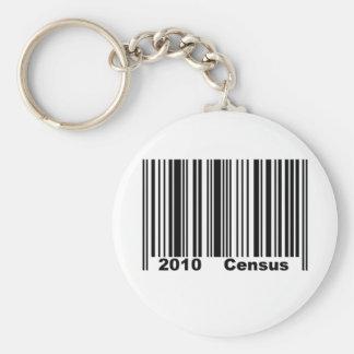 Censo 2010 llavero redondo tipo pin