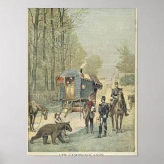 Censo de viajeros en Francia Póster