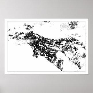 Censo Dotmap de Los Ángeles Posters