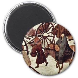 Censo en Belén, detalle por Bruegel D. Ä. Piete Imán Redondo 5 Cm