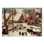 Censo en Belén, detalle por Bruegel D. Ä. Piete Tarjeta De Felicitación
