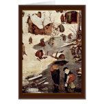 Censo en Belén, detalle por Bruegel D. Ä. Piete Tarjeta