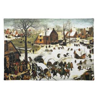 Censo en Belén, Pieter Bruegel el más viejo arte Mantel Individual