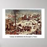 Censo en Belén por Bruegel A. Pieter Impresiones