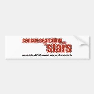 Censo que busca con las estrellas pegatina de parachoque