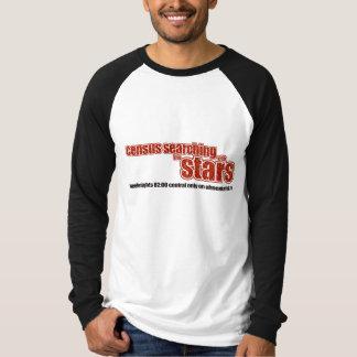 Censo que busca con las estrellas playera
