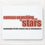 Censo que busca con las estrellas tapetes de ratón