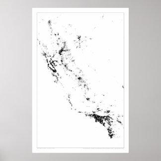 Censo urbano Dotmap de California Poster