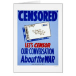Censor Conversation WWII 1941 WPA Cards