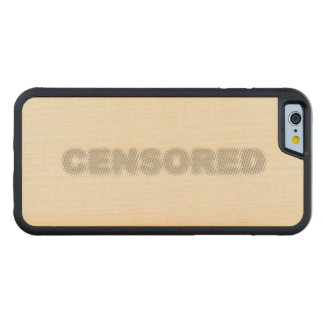 CENSORED CARVED MAPLE iPhone 6 BUMPER CASE