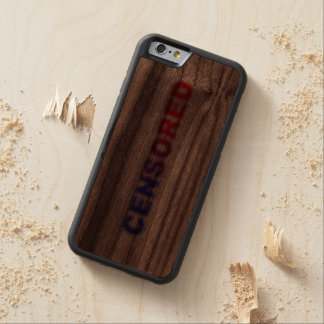 CENSORED CARVED WALNUT iPhone 6 BUMPER CASE