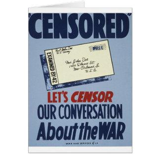 Censored Greeting Card